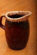 Vintage Ceramic Hull Brown Drip Ware Creamer Pitcher Oven Proof