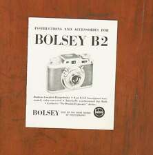 BOLSEY B2 INSTRUCTION BOOK/37902