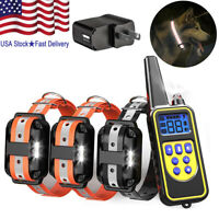Waterproof Dog Training Electric Collar Rechargeable Remote Control For 3 Dogs