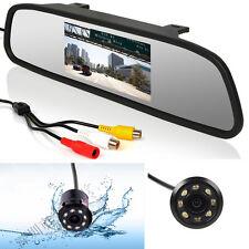 Car Reversing Backup IR Night Vision Camera LCD Rear View Mirror Monitor Display