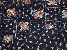 Black Apricot Brown Cotton Quilt Fabric - Craft Quilting Patchwork 56cmx50cm FQ