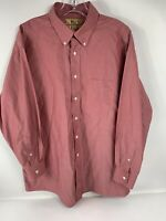ROUNDTREE AND YORKE GOLD LABEL 80s NON IRON COTTON PINPOINT SHIRT 16 1/2 33 Red