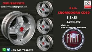 4 Cerchi in lega Fiat Cromodora CD30 5,5x13 4x98 Fiat Alfa Romeo Lancia felgen