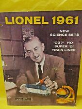 Lionel Original Postwar 1961 Advance Catalog -  Cover Flaws