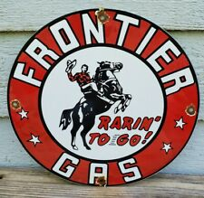 Frontier Gasoline Sign  Extra Large