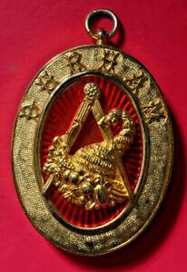 Durham Past Provincial Grand Steward masonic collar jewel