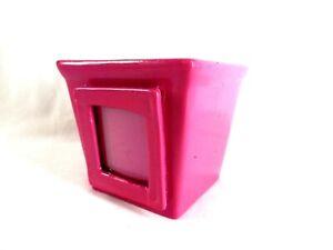 "Ceramic Planter Pot for Indoor & Outdoor Fuchsia Square Small Herb Planter 4.5"""