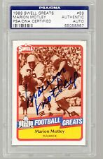 MARION MOTLEY AUTO 1989 Swell Greats #59 PSA/DNA HOF Cleveland Browns