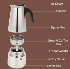Stainless Steel Coffee Pot Cafetiere Ground Filter Make Coffee Press Plunger