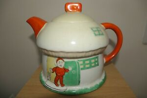 Shelley Mabel Lucie Attwell Boo Boo Tea Pot Toadstool House 1920s 11.4cm