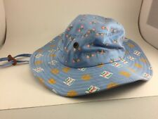 SUN HAT FOR GARDENING OR OUTSIDE WEAR  LIGHT BLUE CANCER FUNDRAISER HATS SMALL