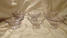 6 SCA  vintage sherbert glasses