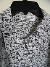 Impressions of California White Black   Buttons Up Shirt Blouse  Sz.1X
