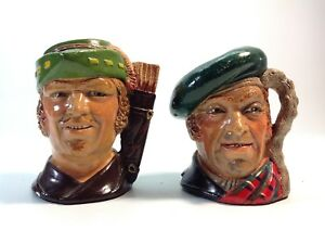 Pair of Genuine Legend Hand Painted Toby Jugs