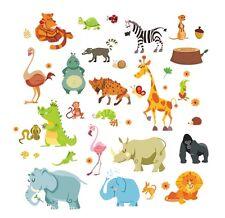 Jungle Animals wall decal baby nursery vinyl