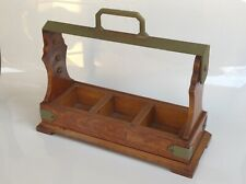 Antique 19th Cent English Oak Tantalus Liquor Caddy Cabinet for Glass Decanters