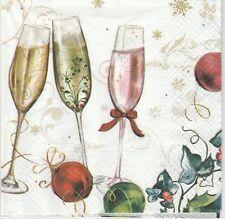 2 Serviettes en papier Nouvel an Fête Champagne Paper Napkins Happy new year