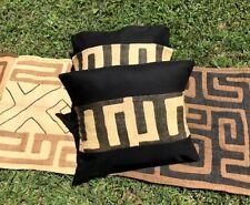 1x Kuba Bakuba African Art Tribal Raffia Handwoven Textile cushion cover Congo
