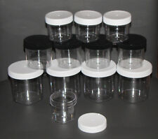 12 slime containers favors gifts Clear Plastic Round Wide Mouth Jars 2, 3, 6 oz