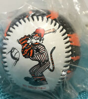 NEW IN PACKAGE EXXON OIL TIGER PROMOTIONAL BASEBALL STRIPED BLACK ORANGE NIP GAS