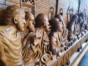 Wall mounted 3D picture of the 'last supper'