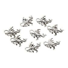 10pcs 20*14mm Tibetan Silver Welsh winged dragon beads 3D charm fit bracelet