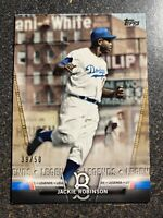 Jackie Robinson Dodgers 2018 Topps Series 2 Salute Insert GOLD PARALLEL #d 39/50