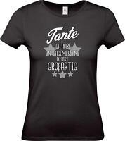 Lady T-Shirt, Tante ich habe nachgemessen du bist Großartig, Familie
