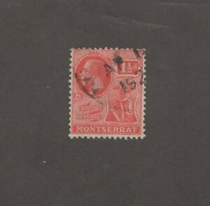 Montserrat 59 - King George V.  1 1/2 Penny . Used.      #02 MONTS59