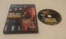 Ordinary Decent Criminal/Bravo Two Zero (DVD, 2011) Rare OOP Region 1 USA