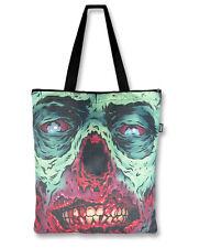 Liquor Brand Canvas Zombie Tote Bag Brains Walking Dead Horror Punk Goth Purse