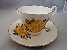 Consort fine bone china teacup and saucer. Made in England.