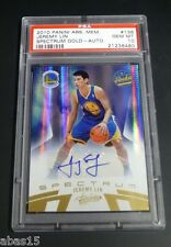 2010 PANINI JEREMY LIN ABSOLUTE SPECTRUM GOLD ROOKIE AUTO CARD RC PSA 10 #5/199