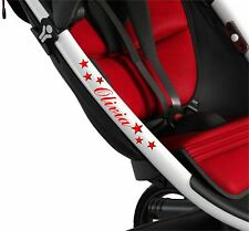 CUSTOM COLOUR 36X STARS pram vinyl Buggy sticker pushchair transfer