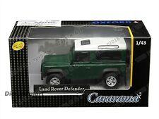 LAND ROVER DEFENDER DARK GREEN WHITE 1:43 DIECAST MODEL CAR BY CARARAMA 4-55260