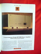 "Conrad-Johnson MF-5600 power amplifier review ""the Perfect Vision"" magazine 7/99"