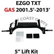 "EZGO TXT GAS 2001'-2013' Golf Cart Front & Rear Drop Axle 5"" Lift Kit"