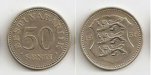Estonia 50 senti 1936  High grade! Rare!