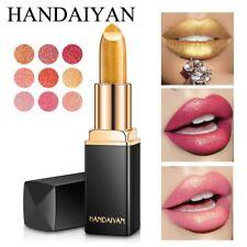 Sexy Lips Glitter Super Metallic Lipstick Temperature Change Color Gold Shimmer