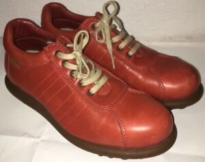 Camper Pelotas Orange Leather Bowling Shoes Oxfords Womens 38/7.5 Worn Once!
