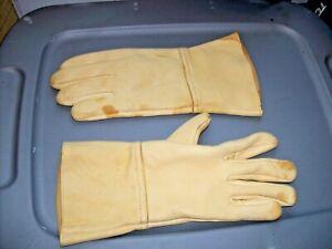 Aerostich Insulated Deer Skin Gauntlet Gloves Men's Size 11