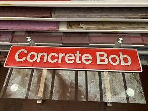 British Rail Locomotive Nameplate Concrete  Bob Resin Replica