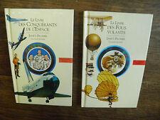 le livre des conquérants de l'espace + Le livre des fous volants Lot de 2 livres