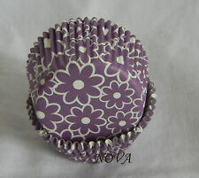100 Purple daisy Cupcake Cake liners baking paper cup muffin case 50x33mm