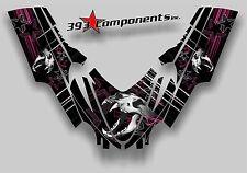 Arctic Cat M7 M8 M1000 Crossfire 2005 - 2011 Graphic Decal Sticker Skull Pink
