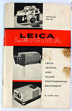 Leica Leicina Photographic Equipment Catalog #36, 116 pages, printed in 1961