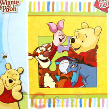 Winnie the Pooh with Friends Plush Mink Blanket Raschel Throw : Twin Size Puzzle