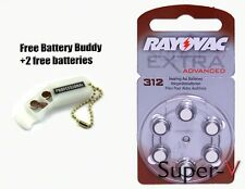 Rayovac Hearing Aid Batteries Size 312 x60 Mini Pack + 2 Batteries/Keychain