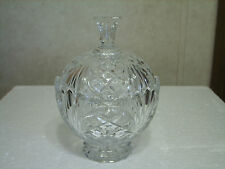 CRYSTAL CANDY DISH WITH LID DIAMONDS & FANS DESIGNS