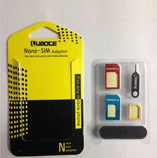 New Practical 5 In 1 Nano SIM Card Suit For Micro Standard Adaptor Converter Set